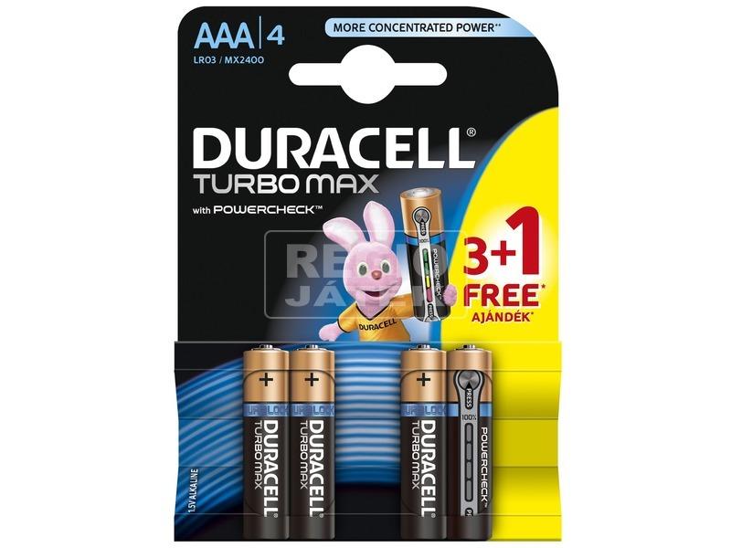 Duracell LR03 AAA Turbo max mikro 3 +1-es PD