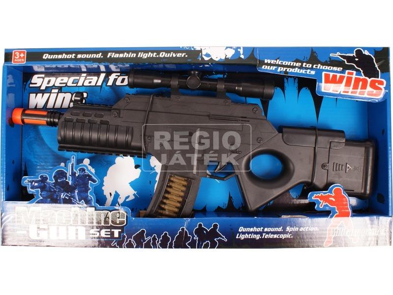 Elemes játék gépfegyver válltámasszal - 44 cm
