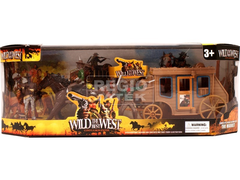 Western játékkészlet figurákkal