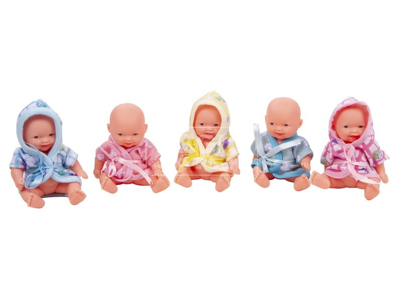 Mini baba köpenyben - 9 cm, többféle