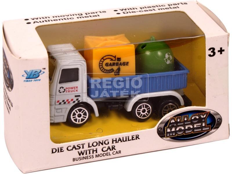 Fém újrahasznosító teherautó - 7 cm