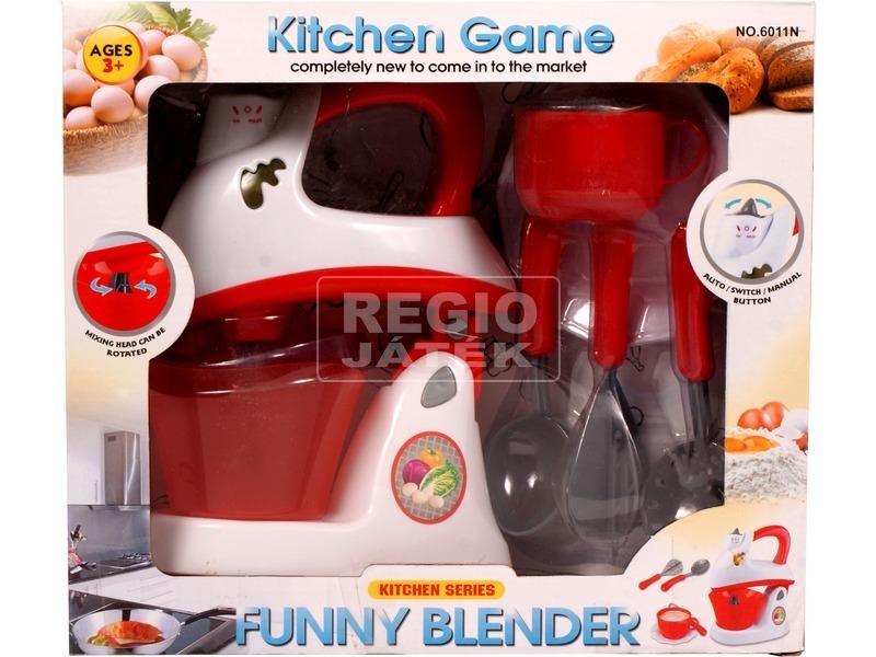 Elemes konyhai keverőgép - fehér-piros