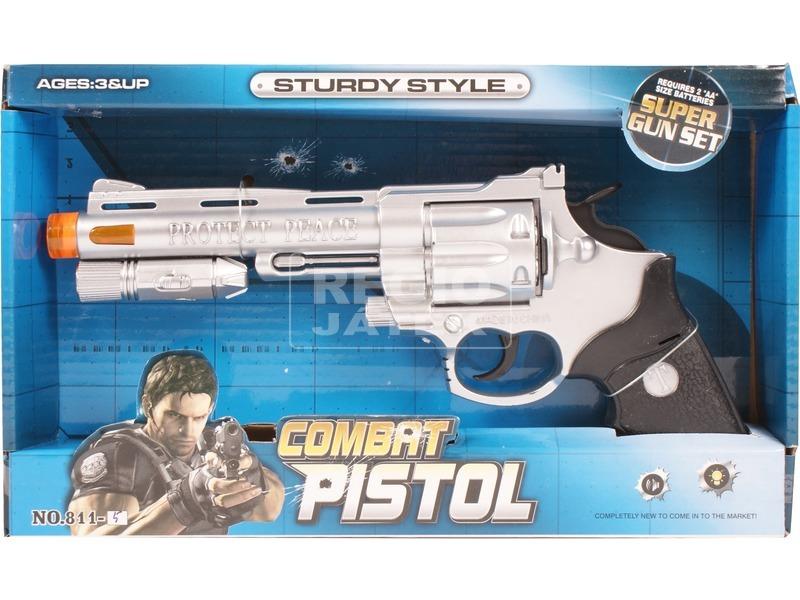 Elemes játék revolver - 26 cm