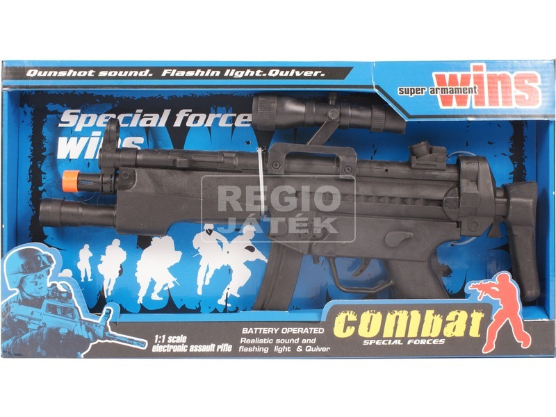 Elemes játék gépfegyver