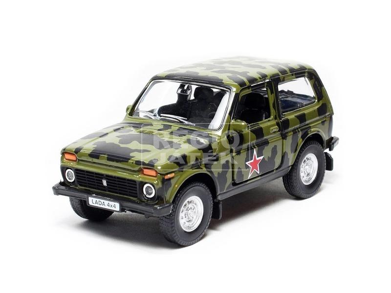 Fém autó 1:34 /39 Lada 4x4 Military