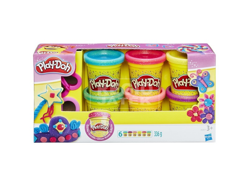 Play-Doh csillámos gyurmakészlet