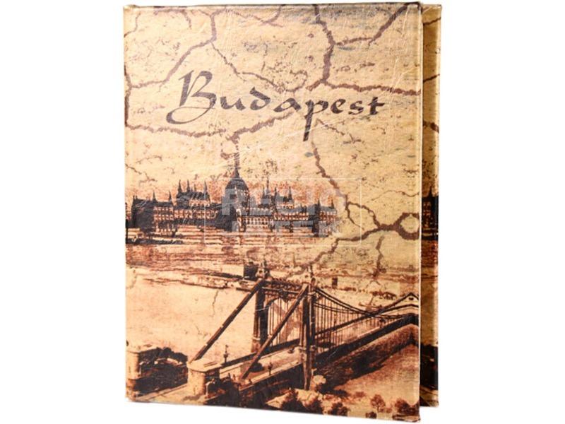Antik Budapest műbőr ajándékdoboz