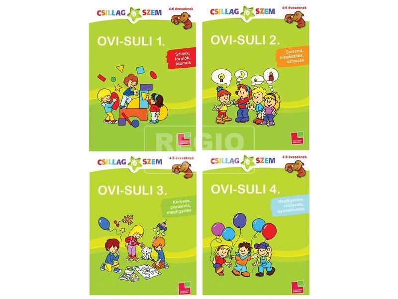 Csillagszem Ovi-Suli fejlesztő füzet - többféle