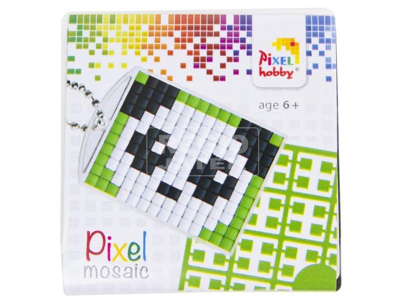 Pixel kulcstartó készlet - panda