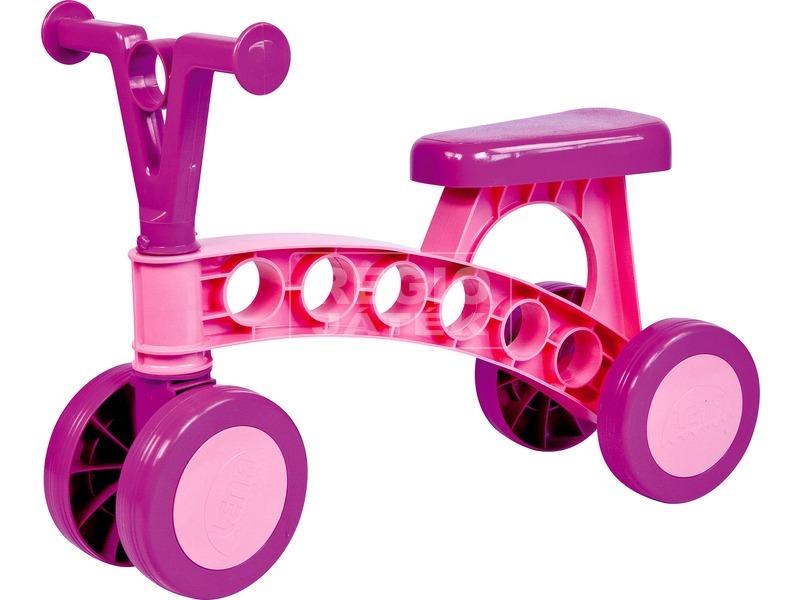 Négykerekű futóbicikli - rózsaszín-lila