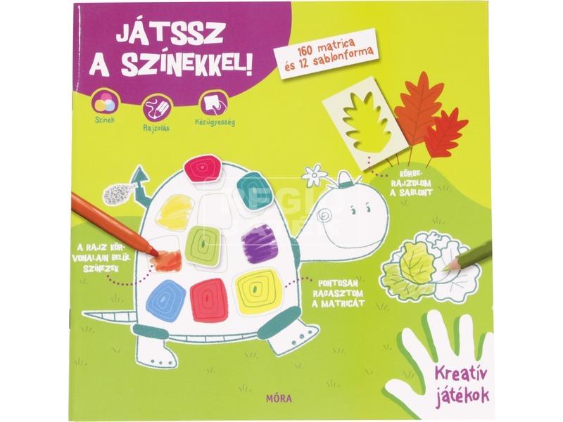 Játssz a formákkal - színekkel matricás könyv