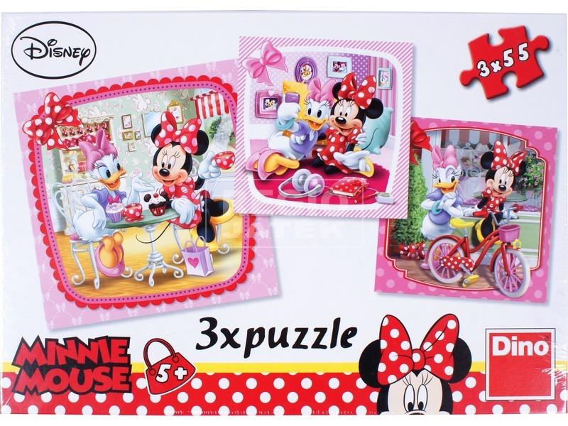 Minnie egér 3 x 55 darabos puzzle