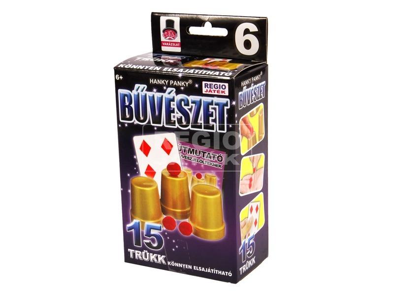 Magic Show poharak és golyók bűvészdoboz - 15 trükkel