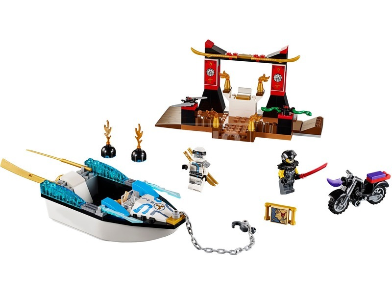kép nagyítása LEGO® Juniors Zane nindzsahajós üldözése 10755