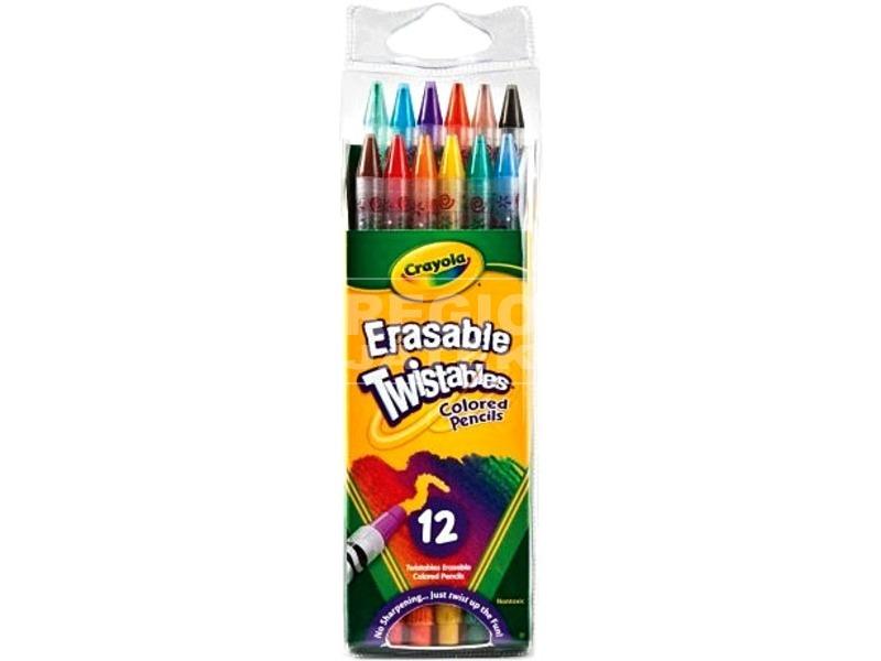 Crayola: csavarható 12 darabos színes ceruza
