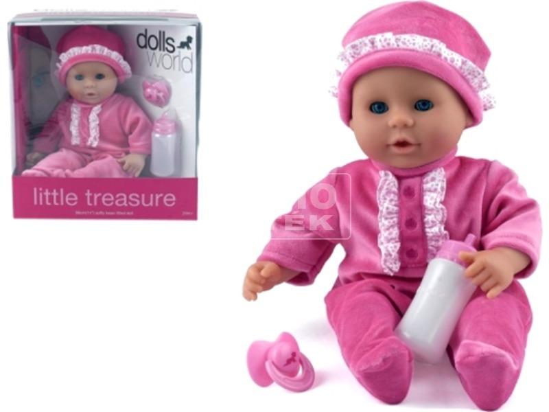 kép nagyítása Little Treasure babzsákos baba - 38 cm, pink