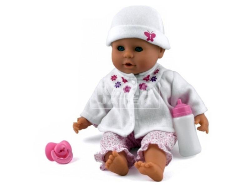 kép nagyítása Little Treasure babzsákos baba fehér ruhában - 38 cm
