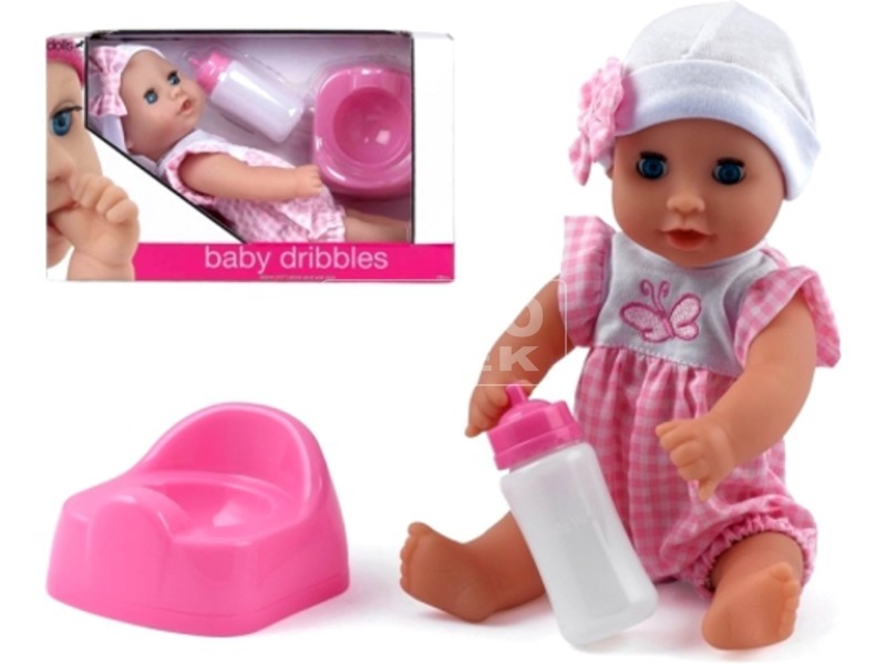 kép nagyítása Baby Dribbles pisilő baba kiegészítőkkel - 30 cm