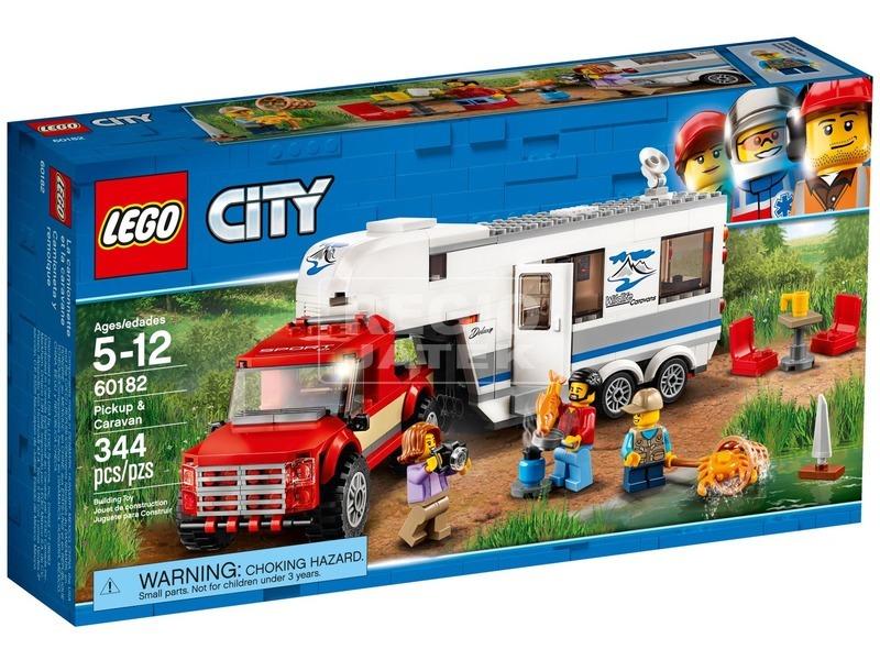 LEGO® City Furgon és lakókocsi 60182