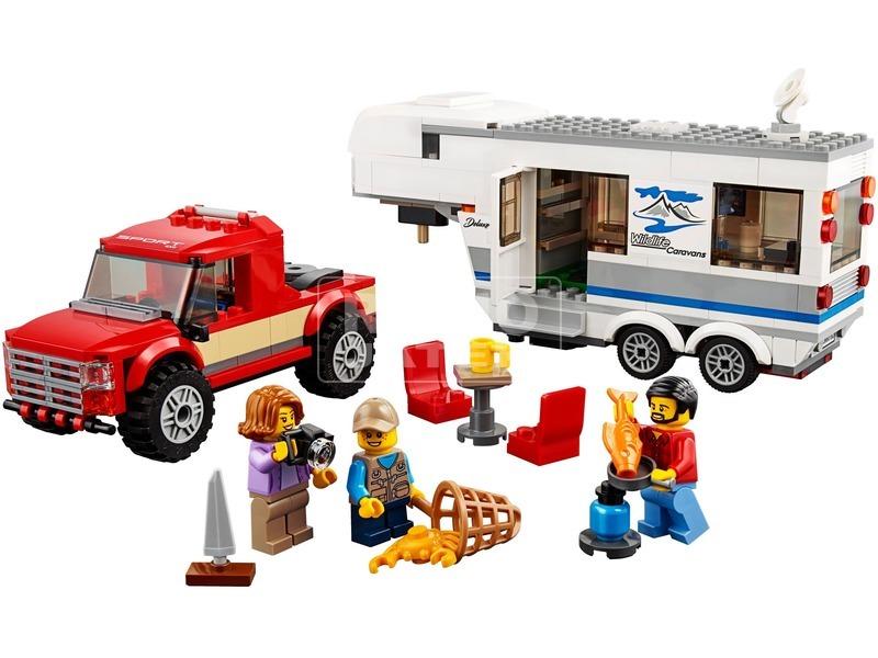 kép nagyítása LEGO® City Furgon és lakókocsi 60182