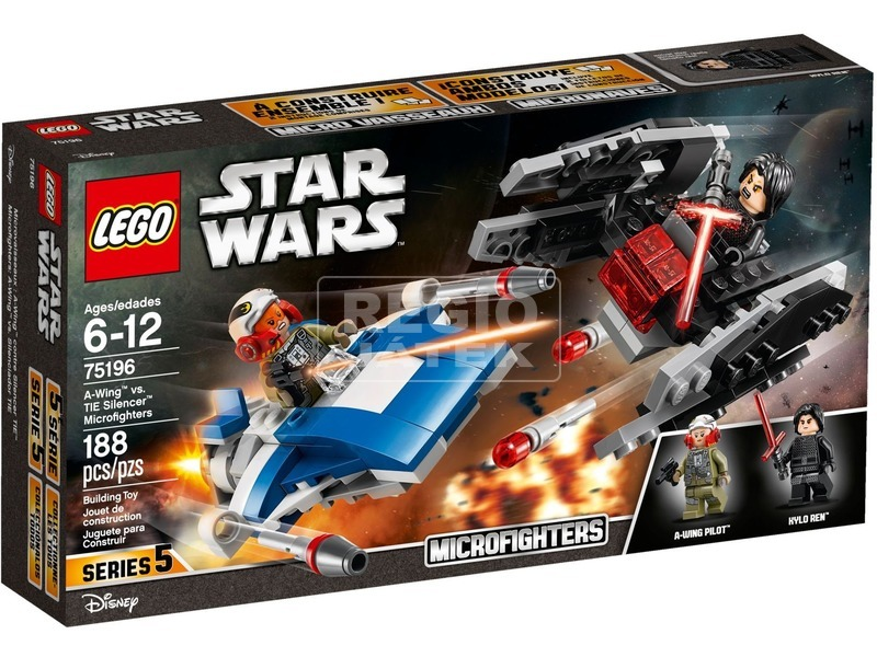 LEGO® Star Wars A-Wing vs. TIE Silencer 75196