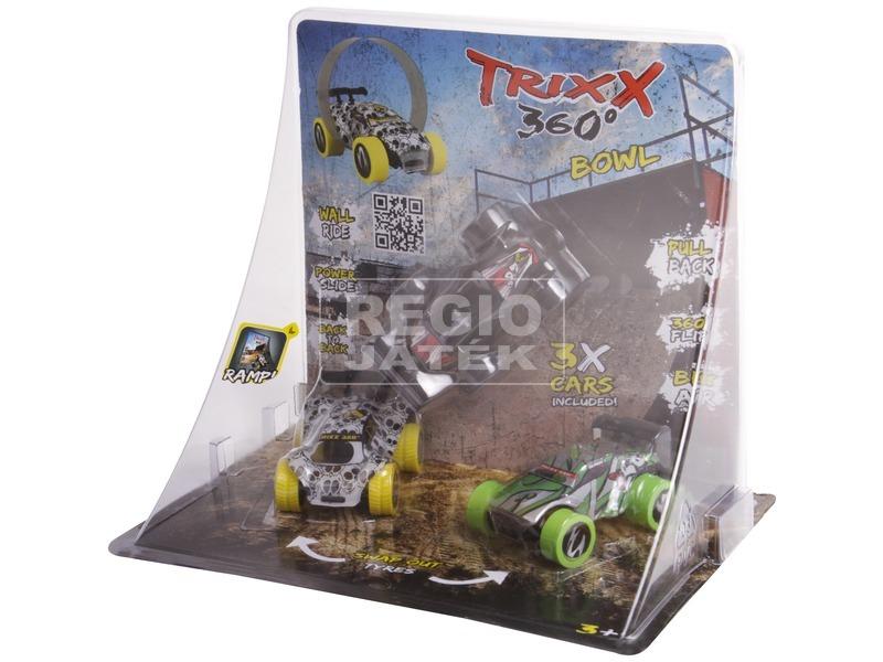 Trixx 360 autó 3 darabos, rámpával - többféle