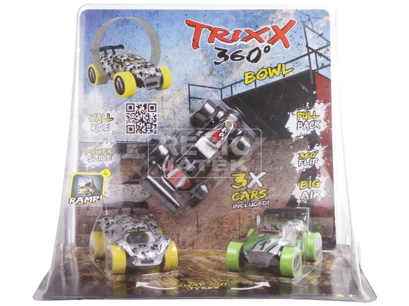 kép nagyítása Trixx 360 autó 3 darabos, rámpával - többféle