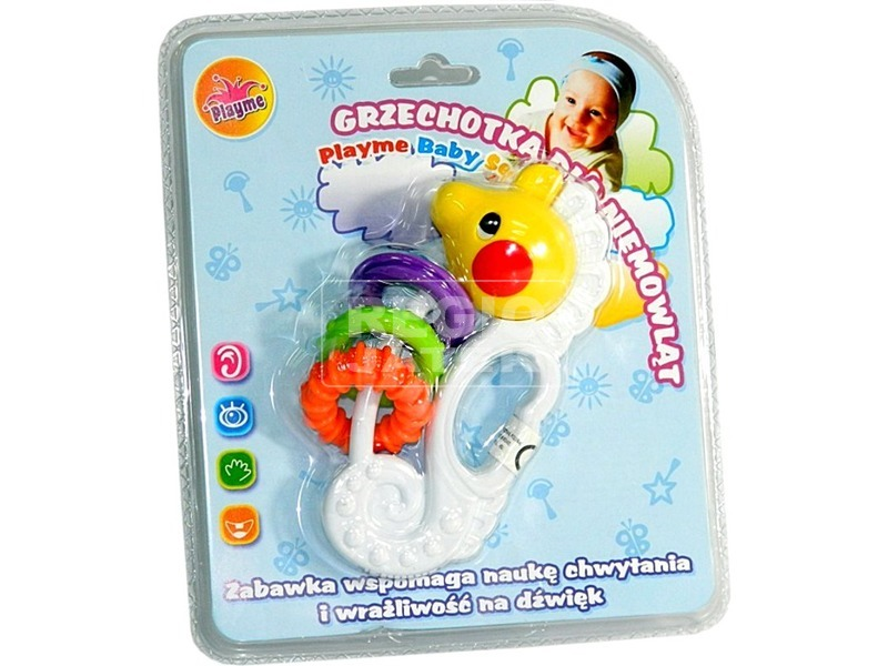 Kisállat műanyag bébicsörgő