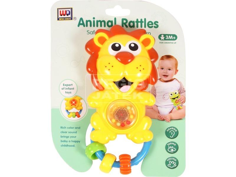 Műanyag oroszlános csörgő