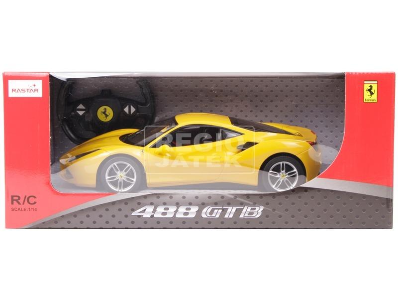 kép nagyítása Ferrari 488 GTB távirányítós autó - piros, 1:14