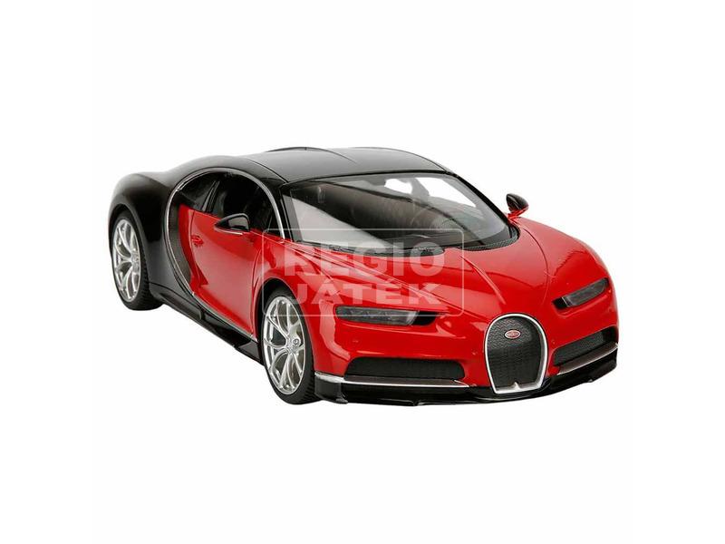 Bugatti Chiron távirányítós autó - fekete, 1:14