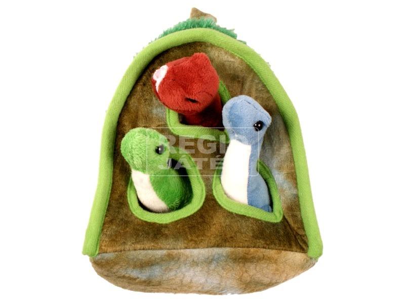 Plüss házikó dinoszauruszokkal - 51 cm