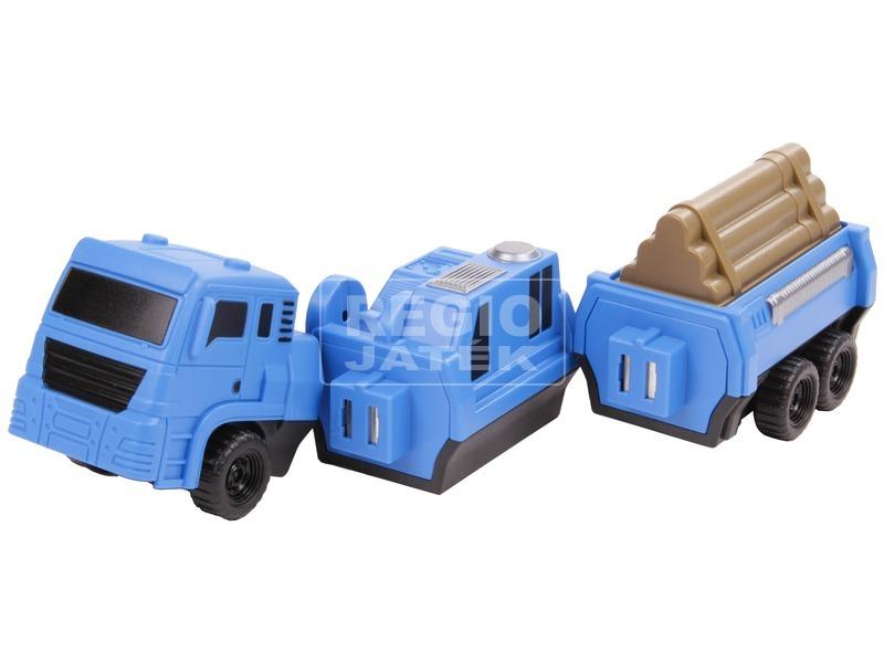 kép nagyítása Szétszedhető teherautó - kék, 22 cm