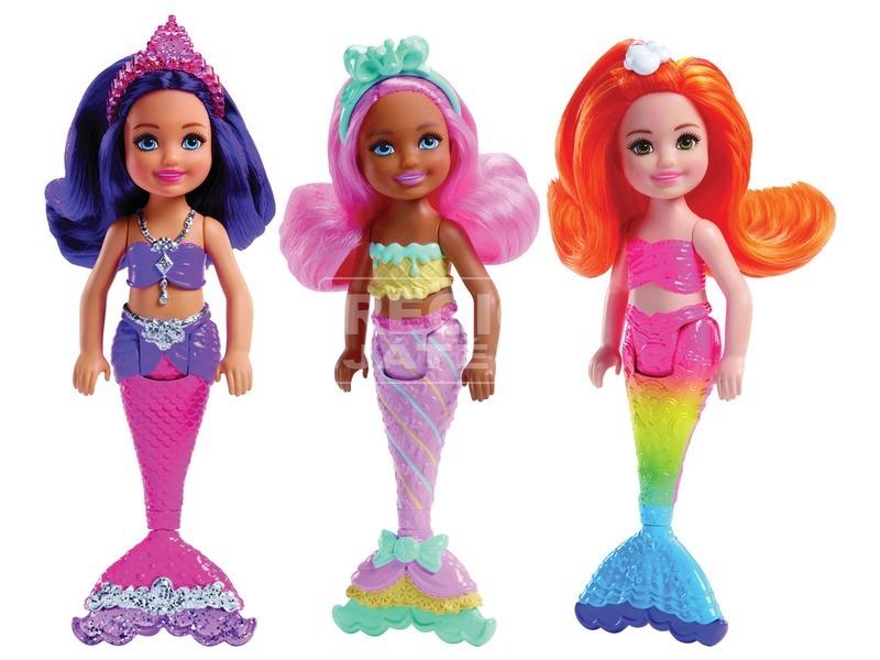 kép nagyítása Barbie: sellő mini baba - 15 cm, többféle
