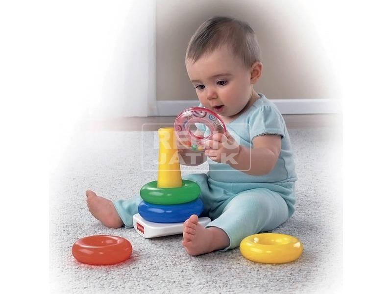 kép nagyítása Fisher-Price színes gyűrűpiramis bébijáték