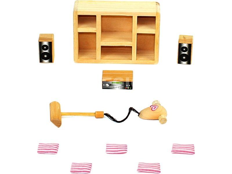 kép nagyítása Fa babaház 30 darabos kiegészítő készlet