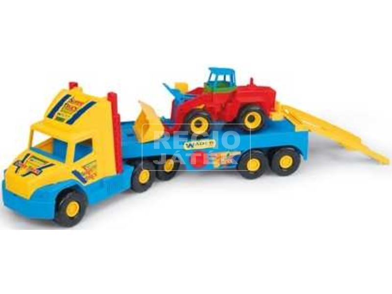 Wader Super Truck kamion trélerén munkagéppel