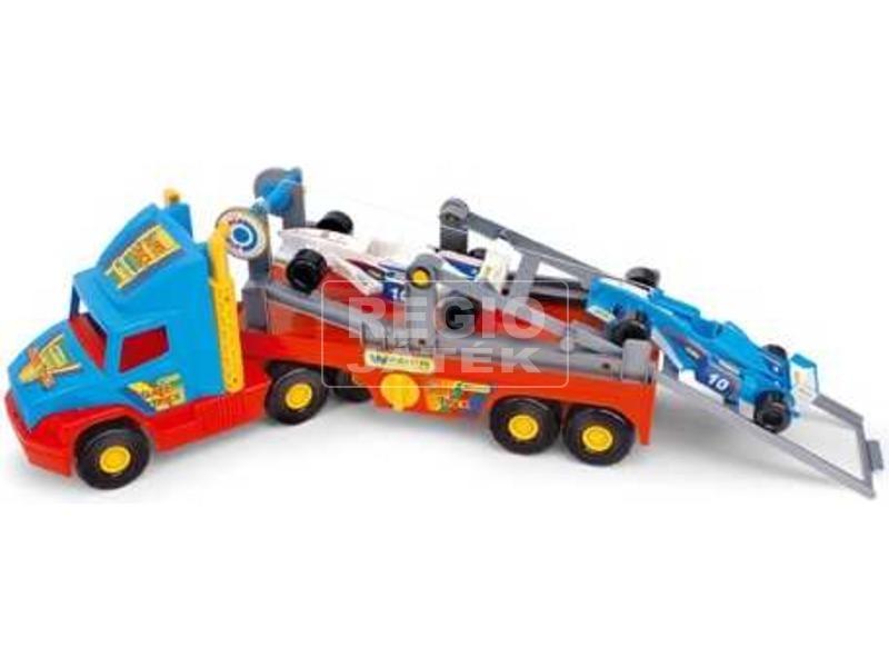 Wader Super Truck F1 versenyautó szállító kamion