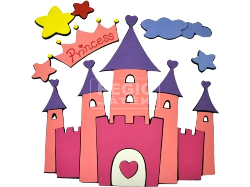 Hercegnők kastélya habszivacs fali dekoráció