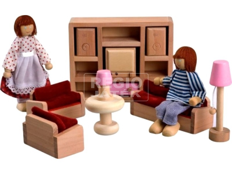 Fa nappali bútor 11db-os