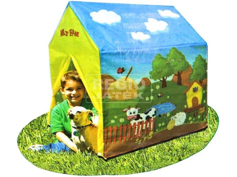 Farm mintás játszósátor - 95 x 72 x 10 cm