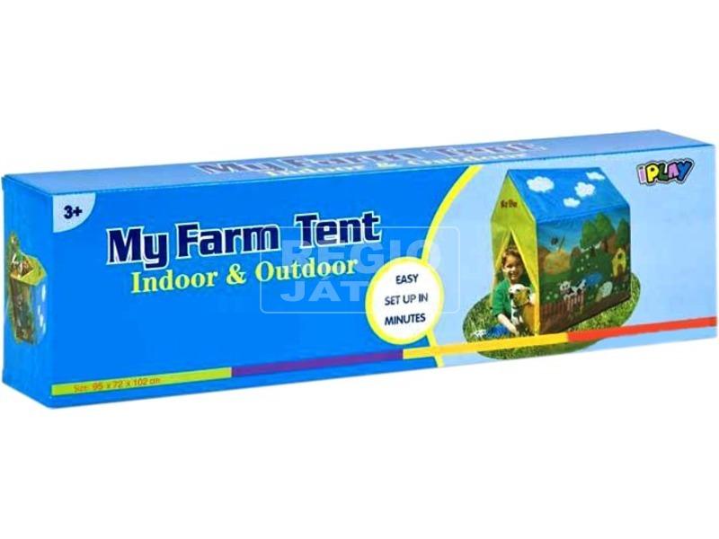 kép nagyítása Farm mintás játszósátor - 95 x 72 x 10 cm