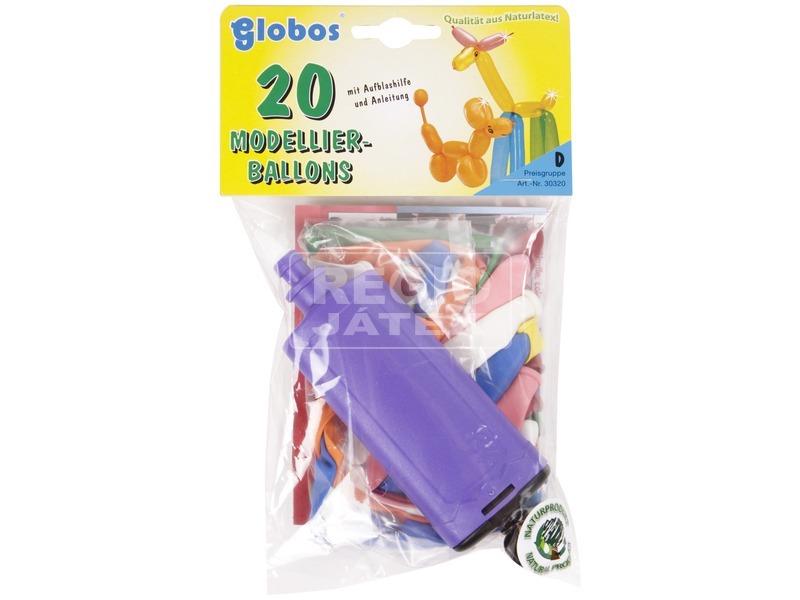 Modellező lufi 20 darabos készlet pumpával