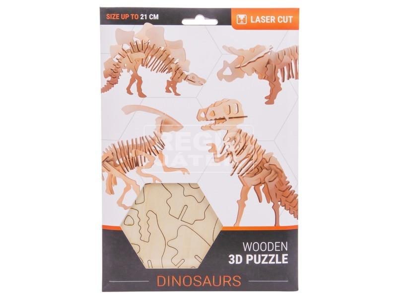 3D fa puzzle - dínók, 4 féle