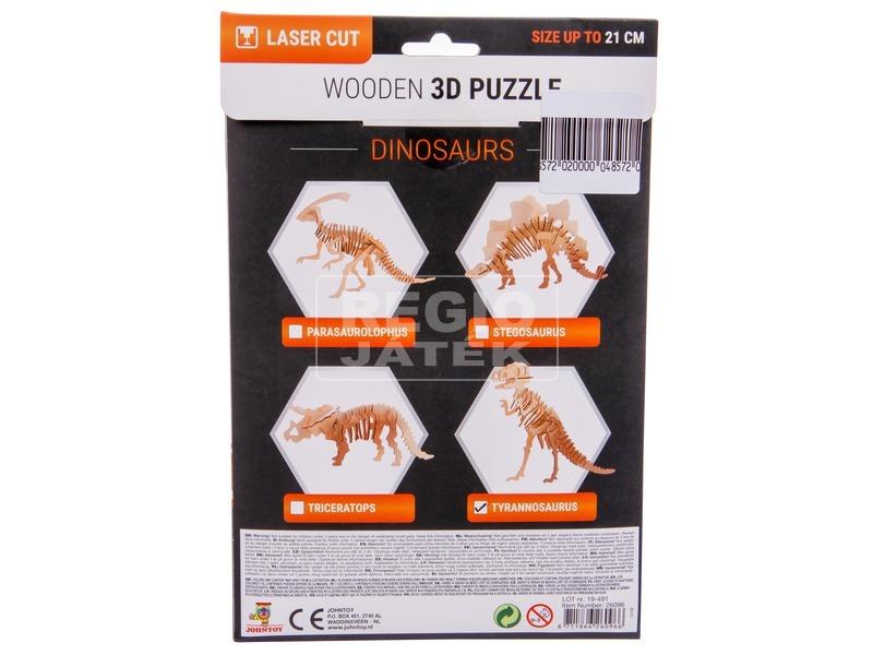 kép nagyítása 3D fa puzzle - dínók, 4 féle