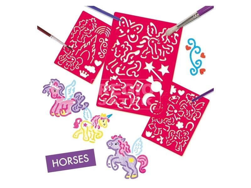 kép nagyítása SES lovak rajzolósablon készlet