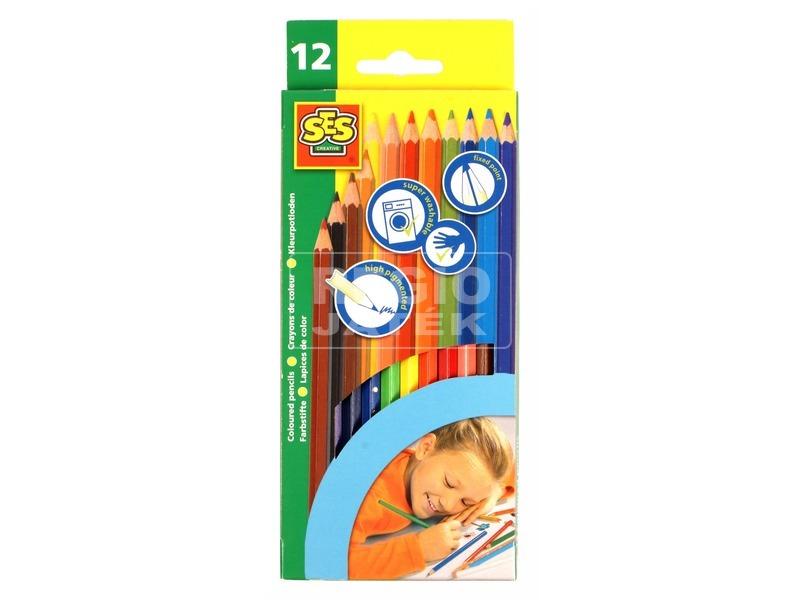Színes ceruza 12 darabos készlet