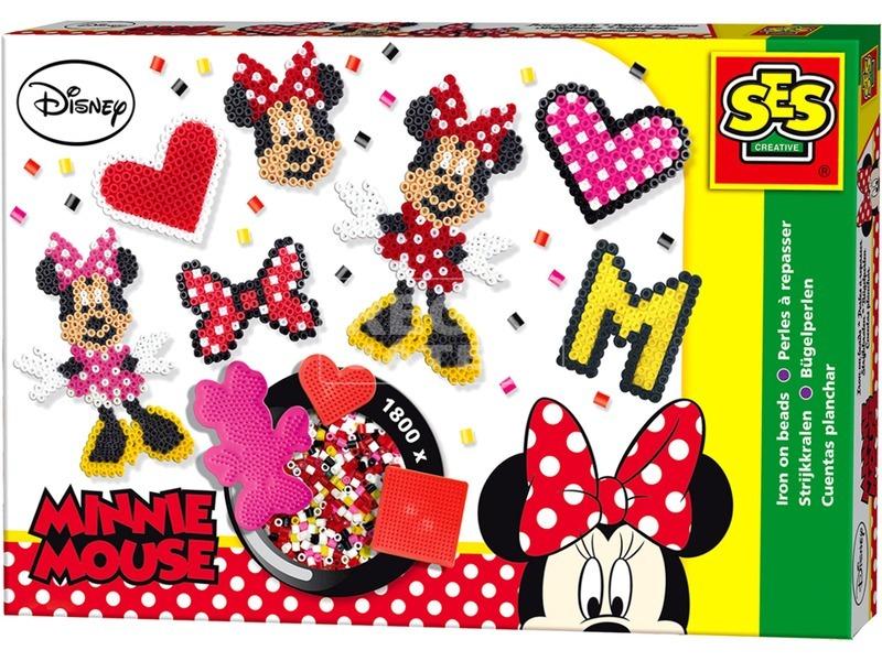 Minnie egér 1800 darabos vasalható gyöngy készlet