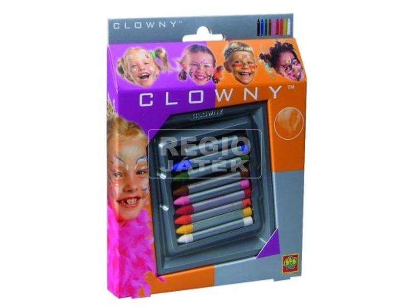 Clowny - arcfestő ceruzák 9 db