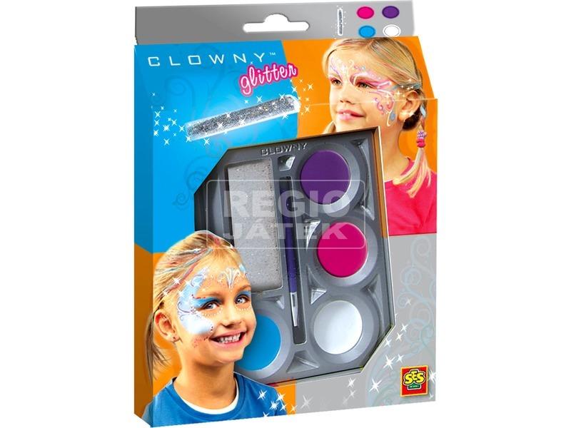 Clowny 4 darabos arcfestő készlet